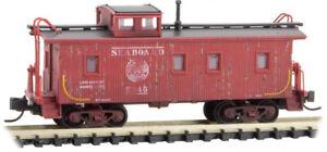 Micro-Trains MTL N-Scale Wood Cupola Caboose Seaboard Air Line/SAL Weathered