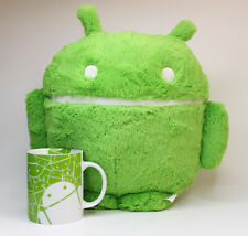 Android Plush Toy Stuffed and Robot Mug Set Green Very Rare Google Swag