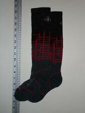 SMARTWOOL SKI Socks Men's Small 3-5.5 Knee High Blue Black Red Cream Padded Shin