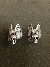 Vintage 1985 G&S Biker Motorcycle Punk Rock Skull & Dragon Silver Ring