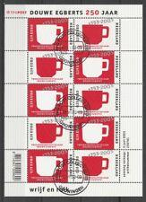 Nederland NVPH 2192-93 Vel Douwe Egberts 2003 Gestempeld Groningen