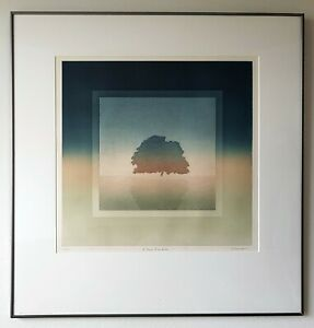 Landscape Tree Form by Solombu Original Limited Edition Hand Signed Etching