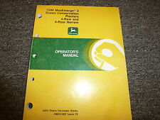 John Deere 7200 4 & 6 Row Narrow Drawn Planter Owner Operator Manual OMA51897