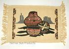 "Set of 4 Placemats Southwestern Pottery design 13x19"" Canvas #5"