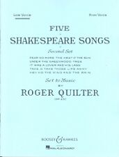 QUILTER SHAKESPEARE SONGS (5) Op23 LOW VOICE