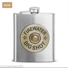 Hunter Shotgun Shell Big Shot Firewater 12 GA 7 Oz. Flask