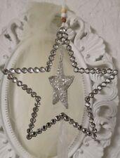 Deko Stern Metall Silber Christmas Weihnachten 20x70cm Deko  shabby Vintage