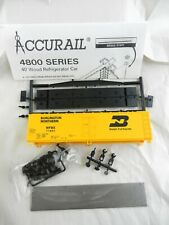 ACCURAIL HO #4825 BURLINGTON NORTHERN 40' Wood Reefer Kit ~Unbuilt~  S44
