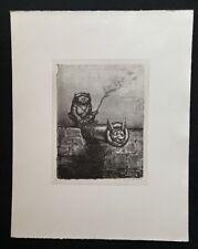 A. Paul Weber, Die Lunte brennt, Lithographie, 1991, aus dem Nachlass