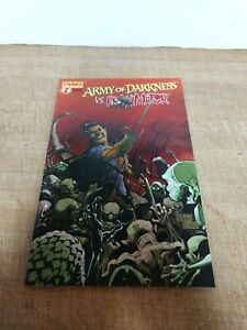 Army Of Darkness Vs Reanimator #2 Autographed Bruce Campbell NM No COA