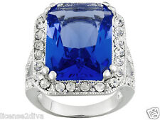 TITANIC JEWELRY COLLECTION LADY DUFF GORDON'S PRINCESS BLUE RING REPRODUCTION 8
