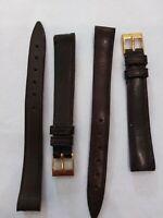 2 Bänder für Armbanduhr IN Ökoleder Marone 12MM, Neu