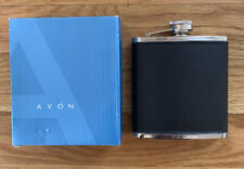 Avon Collectible Stainless Steel Pocket Flask Whiskey Alcohol 6 oz in Box
