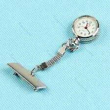 HOT! Pin Clip Brooch Pendant Fobwatch Nurse Hanging Pocket Quartz Fob Watch