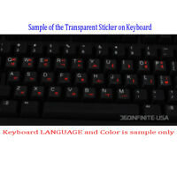 SPANISH LATIN Transparent Keyboard Sticker for laptop desktop RED BLACK WHITE