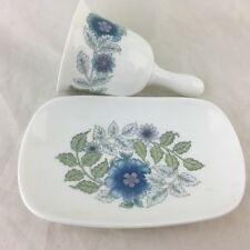 Vintage Wedgwood Clementine Small Tray & Bell Blue Garland Scroll