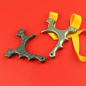Hunting Tools Slingshot Shooting Titanium Alloy Silver Patterned Designs Outdoor