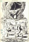 Swamp Thing: Battle for the Bayou Board Game Art Waste Dumpers by Alfredo Alcala