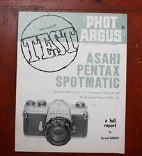 PHOT ARGUS ASAHI PENTAX SPOTMATIC TEST REPORT, OCT 1969/209679
