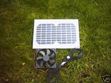 SUMMERHOUSE OR GARDEN OFFICE HIPOWER SOLAR VENTILATION KIT WITH 12CM FAN