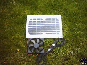 HIPOWER 5 WATT SOLAR VENTILATION KIT,12CM FAN,IDEAL FOR CHICKEN RUN,DOG KENNEL