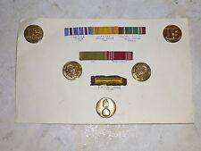 WWII US Army Disque de col Ruban médaille Ribon GI's Libération Débarquement