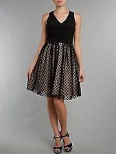 Eliza J Spot mesh skirt dress Ladies Size 8 Black SALEs ii 13
