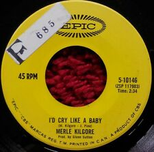 "MERLE KILGORE I'd Cry Like A Baby / Just Don't Care 1967 EPIC 7"" COUNTRY Single"