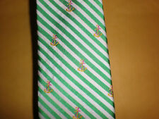 RALPH LAUREN ANCHOR TIE NEW WITH TAG GREEN, WHITE, YELLOW, RED SLIM