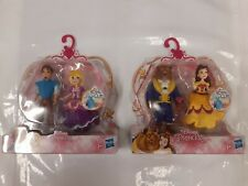 Hasbro Disney Princess Beauty And The Beast + Rapunzel & Eugene Royal Clips -New