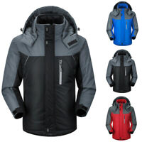 Men's Winter Warm Ski Jacket Snow Hiking Thick Hooded Waterproof Coat Outw xk