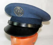 "Vintage US Air Force USAF Peaked Visor Hat Cap + Cover Size 60 (7 1/2)(23 3/4"")L"