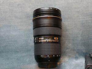 Nikon Zoom-Nikkor 24-70mm f/2.8 ED G AF-S Lens with filter.