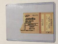 Elvis Costello 1978 Concert Ticket Stub Pittsburgh