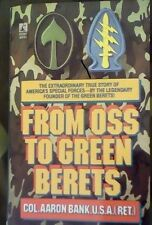 FROM OSS TO GREEN BERETS Col. Aaron Bank BRAND NEW BOOK EBay BEST PRICE!