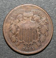 BIG 2 Cent Madness Sale - 1864 US 2 Cent Piece VG