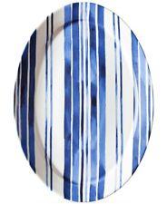 Ralph Lauren 246987 Cote D' Azur Stoneware Stripe Serving Platter Blue/White