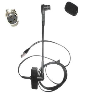 Clip On Musical Instrument Mic Saxophone Microphone For AKG Wireless mini 3Pin