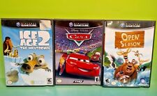 Disney Ice Age 2, Cars, Open Season - Nintendo GameCube Tested Game Lot Complete