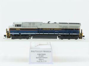 N Scale Fox Valley NS Central of Georgia ES44AC Diesel Locomotive #8101 Custom