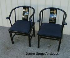 59484  Pair Oriental Armchair Chairs Chair s
