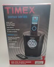 Timex Ts70 Clock Radio Speaker with dock for Sansa Sandisk Mp3 Player