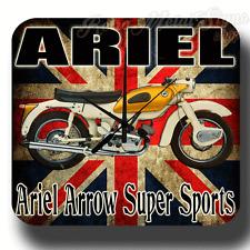 Reloj De Pared Ariel Flecha Super Deportes Retro Garaje Metal Estaño Firmar