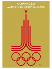 MOSCOW RUSSIA 1980 Summer Olympic Games Official Olympic Museum POSTER Reprint