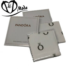 Pandora 100MM Square Silver Polishing Cloth Jewellery Cleaner - 2 Pack