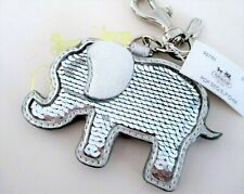 NWT Coach Poppy Sequin Elephant Chain Keychain Fob Bag Charm 97785 RARE