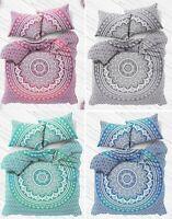 Indian Ombre Mandala Cotton Bedding Set Double King Size Quilt Duvet Cover Set