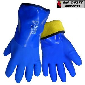 Insulated Waterproof Gloves Flexible PVC Cold Weather Work FrogWear 8490 1/Pair