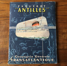 Coupe Transversale PAQUEBOT ANTILLES Compagnie Générale Transatlantique CGT 1955