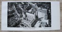 1 Blatt 1929 Bamberg Fliegeraufnahme Domplatz Dom Architektur Straße Ofr 23x11cm
